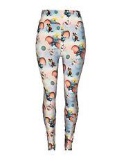 Dumbo Leggings (Diva Size 16-22) Cotton Candy Bckgrnd Mouse Balls Wheels Roses