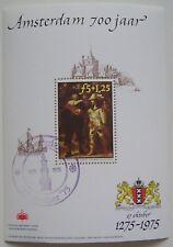 Erinnofilie 1975 - Blok Rembrandt Amsterdam 700 jaar, speciaal stempel