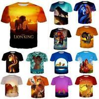 The Lion King Animal Design 3D Print Casual T-Shirt Women/Men Short Sleeve Tops