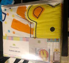 Little Wonders Animal Friends 3-Piece Baby Crib Bedding Set - Lion