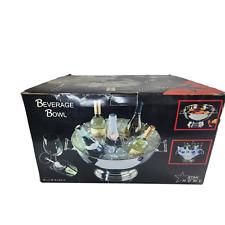 Star Home Beverage Bowl Wine Bottle Chiller Punch Bowl with Insert Serving