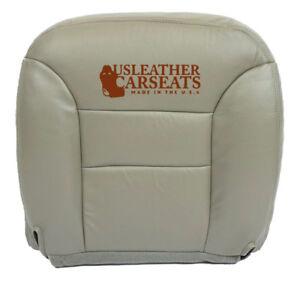 95-99 Chevy Silverado Suburban Driver Bottom Synthetic Leather Seat Cover Gray