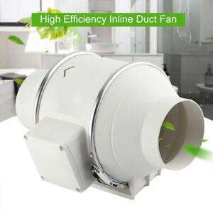 "4"" Loft Mounted Bathroom Shower Inline Duct Extractor Fan Ventilation 220V"