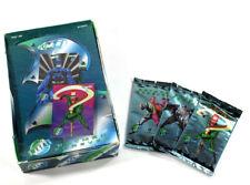 Lot of (25) 1995 Fleer Metal Batman Forever Trading Card Packs in Display Box