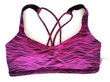 Lululemon Free To Be Bra Size 6 Life Polar Pink Magenta LLPP Strappy Yoga NWT