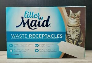 Littermaid Waste Receptacles- 12 Packs. Disposable, LMR200