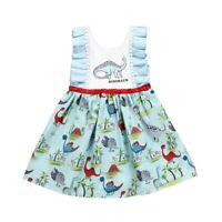 NWT Dinosaur Girls Blue Sleeveless Dress 18 M 2T 3T 4T