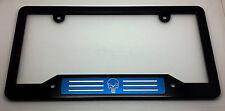 Punisher, HMC Billet Aluminum License Plate Frame, Black Anodized,  Blue Badge