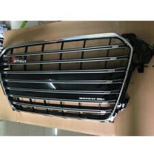 Fit For Audi A4 B8.5 S4 Style 2013-2015 Mesh Grill Front Upper Vent Pure Grille