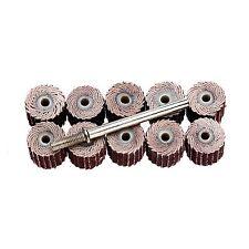 """10Pcs 240# Grit Sanding Sandpaper Flap Wheel Set for Power Rotary Tool Dia 3/8"""""""