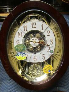Rhythm Clocks NEW  Peaceful Grand Anthology Magic Motion Clock (4MH425WU06)