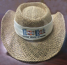 Hat, straw hat for Bimini Bob's white hatband, new, never worn