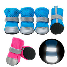 4pcs/pack Dog Shoes Waterproof Safety Reflective Dog Boots Booties Anti Skid