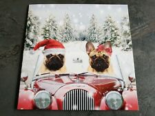 10 Premium Cute Pug Dogs Christmas Cards. New.UK LETTER SIZE