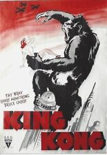 Original vintage poster KING KONG FILM NEW YORK 1933 SENSATIONAL !