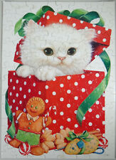 Vtg Hallmark Springbok Jigsaw Puzzle Gingerbread Man Holiday Kitten Cat 100p 70s