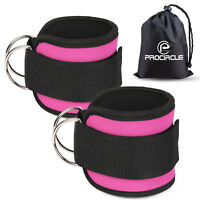 A Pair of Adjustable Ankle Straps Cuffs Resistance Bands Latex Elastic Loop Band