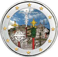 Litauen 2 Euro 2020 bfr. Berg der Kreuze in Farbe