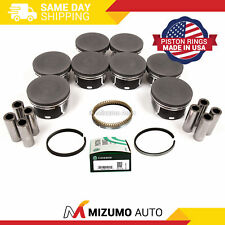 """Forged Flattop Pistons Sbc 350 4.030"""" Coated Skirts L2256F 30"""