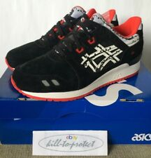 TITOLO x ASICS Gel Lyte III PaperCut taglia 9.5 UK8.5 20th H50VK9001 Nero KITH 2015