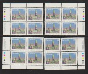 1988 Canada SC# 1165 - Domestic First-Class Rate - Plate Blocks of 4 M-NH # 3108