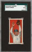 1909-11 T206 Ed Lennox Sweet Caporal 350 Brooklyn SGC 35 / 2.5 GD +