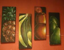 set 4 quadri su tela