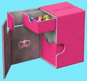 ULTIMATE GUARD FLIP n TRAY PINK 100+ XENOSKIN DECK CASE Card Box MTG CCG Game