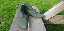 🌈🌈 FLY LONDON PIXIE ANKLE BOOTS Green Suede Retro 80s Uk7