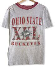 Vintage Ohio States Buckeyes Men's Size Large Single Stitch Gray Ringer T-Shirt