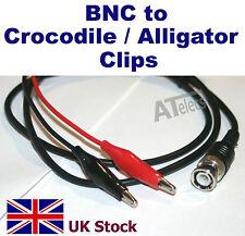 BNC Male Plug to Alligator Crocodile Clips Test Lead Probe Oscilloscope Cable 1M