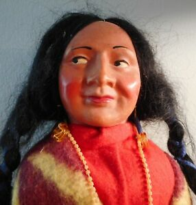 """14"""" SKOOKUM DOLL - SIDE GLANCING EYES WITH 9"""" PAPOOSE DOLL"""