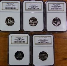 2005 S COMPLETE 5 Coin Clad State Quarter Set NGC PF69 UC-Very Nice!!