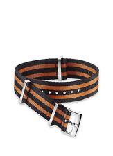 21mm Official Omega Polyamide NATO ® Strap Black Orange Stripes