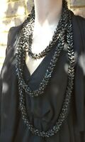 Vintage Necklace Bakelite Era And Style Extra Extra Long hard plastic