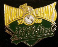 1989 OAKLAND Athletics World Champions Baseball Hat Lapel Pin ~ MLB