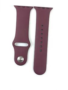 Original Apple watch Series 7 6 SE 5 4 Sport Band 38mm 40mm 41MMM Plum Pin + SM