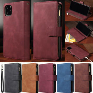 Zipper Wallet Leather Flip Case Cover For iPhone 7 8 Plus 13 12 Pro 11 XR Xs Max