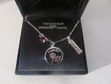 TRULY INSPIRED Silver Plate SWAROVSKI Crystals OWL Charm Bracelet Friendship NEW