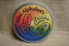 R&M ALPHABET Metal Cookie Cutter 26pc Set Mini Letter BRAND NEW Fondant School