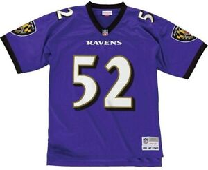 Ray Lewis Baltimore Ravens Mitchell and Ness Men's Purple Throwback Jersey