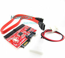 2PCS IDE to SATA ATA 100/133 Serial HDD CD DVD Converter Adapter+Power & Cable