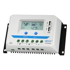 20 A 30 A 12V//24V Panneau Solaire Chargeur Batterie du contrôleur régulateur USB LCD BA10