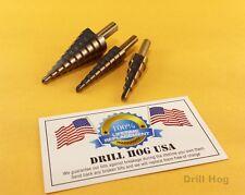 Step Drill Bit Set REAMER Metric Bits MM UNIBIT Lifetime Warranty DrillHog USA