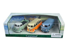 VOLKSWAGEN BUSES SET OF 3 1/43 DIECAST CAR MODELS BY CARARAMA 35308