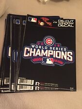 Lot Of (20) 2016 Chicago Cubs Champions Die Cut Window Decals