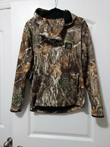 New Realtree Youth Edge Tech Hoodie Camo Hunting w/ Built-In Face Neck Gaiter