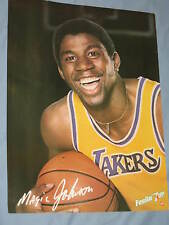 Original 1980 Lakers Magic Johnson Full-Size 19x25in. Basketball 7Up Poster MINT