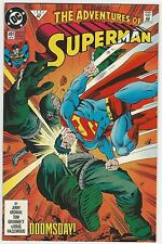ADVENTURES OF SUPERMAN #497 1ST PRINT VERSUS DOOMSDAY 9.6 NM+