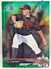 Zac Lowther 2017 Bowman Chrome Draft Prospect GREEN Refractor #'d/99 - ORIOLES